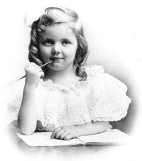 Composer Elinor Remick Warren as a child